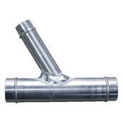 "Aluminum Y for Radiator Hose, ""multiple sizes available"", cab heater"