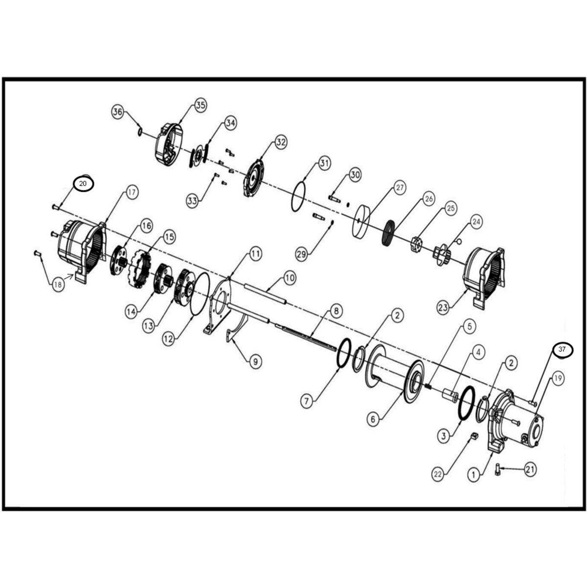 Polaris 4500 Winch Parts Diagram Free Wiring Diagram For You